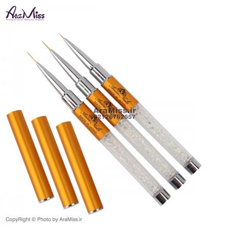 قلم طراحی ظریف 3 سایز Anim دسته کریستال